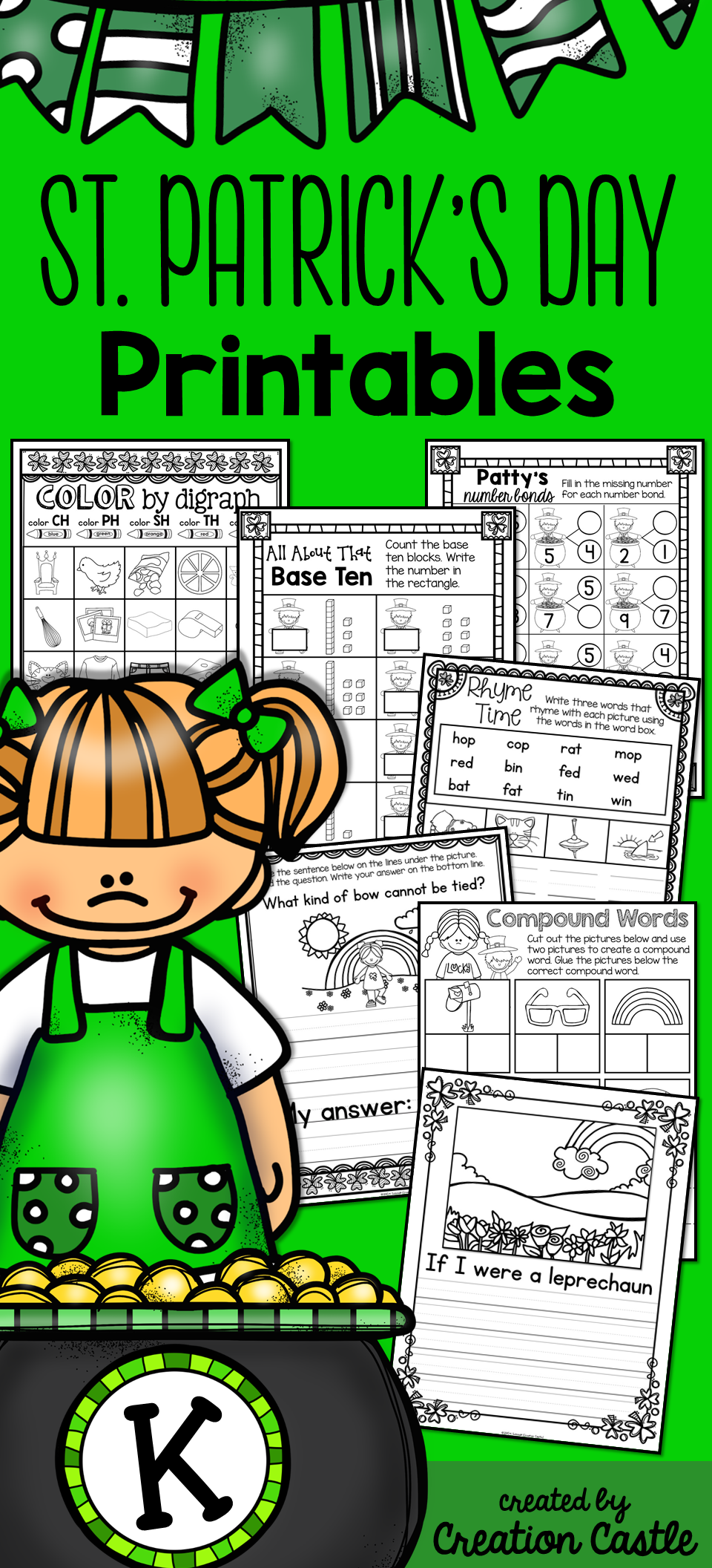St. Patrick\'s Day | Number bonds, Skip counting and Number