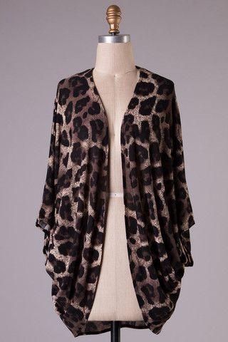 Leopard Print Kimono Cardigan – Texas Two Boutique | Cardigans ...