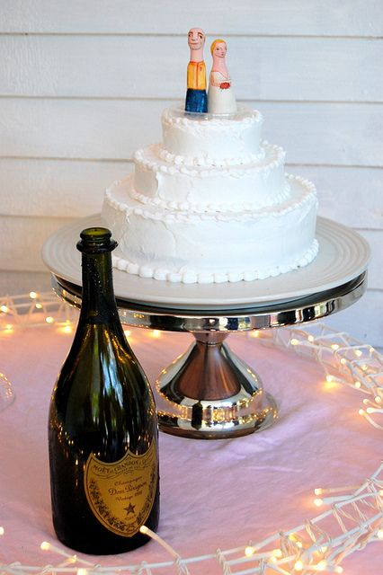 from my hobo wedding. i made my own cake --- from a box! I made the cake toppers too, they look just like us!
