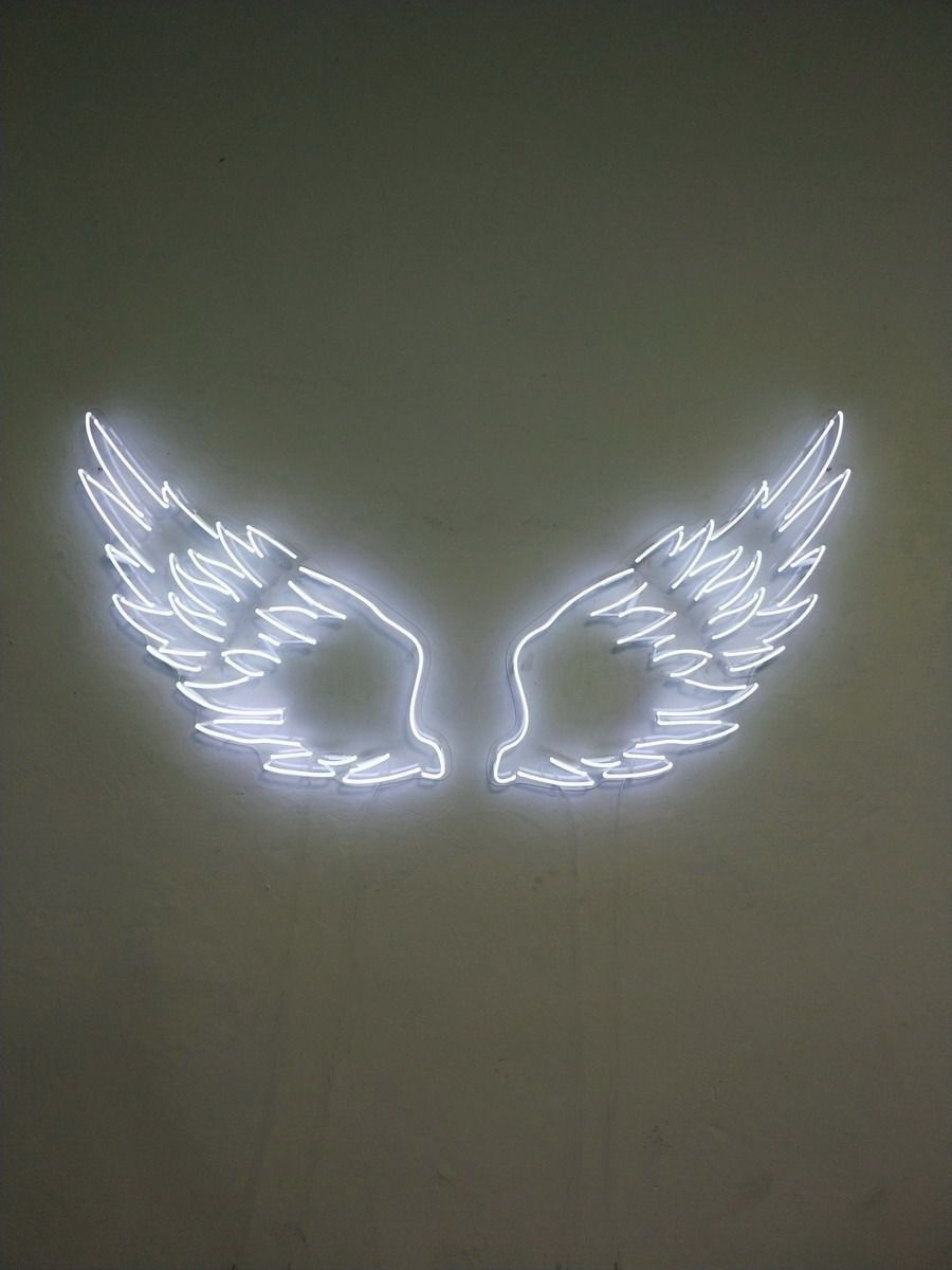 Angel Wings Neon Sign By Aoos Com Neon Signs Neon Sign Bedroom Neon Bedroom Aesthetic iphone angel wings wallpaper