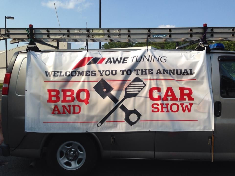 AWE Tuning Uses ESignscom Check Out Their Totally Awesome Review - Car show banners