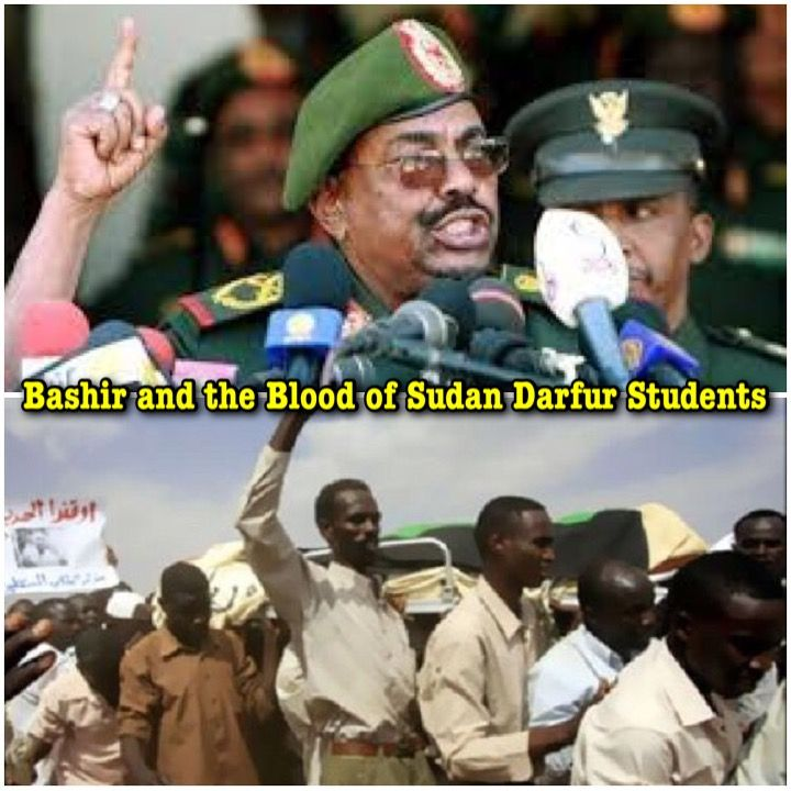 Darfur Union in the UK: Blood of Darfur Students on the Hands of Bashir: This is How Sudanese Students Received Eid