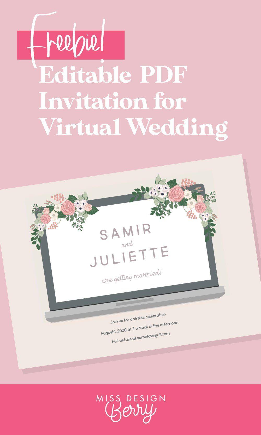 Free Printable Virtual Wedding Invitation Wedding Invitations Invitations Wedding Stationery Paper