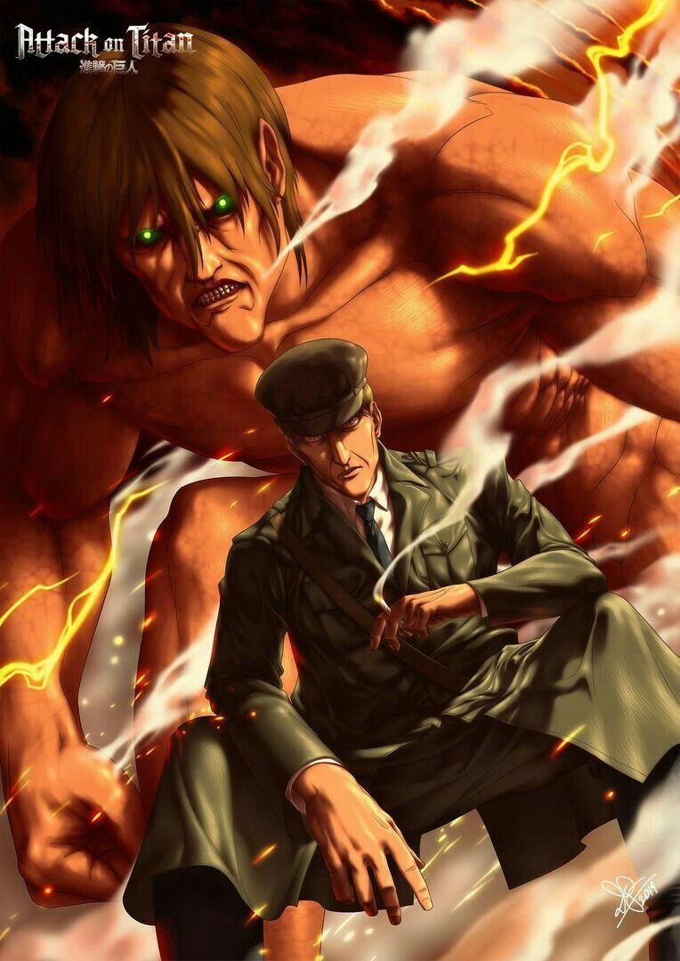 Eren Kruger Attack On Titan Gambar Anime Kartun Anime Gelap