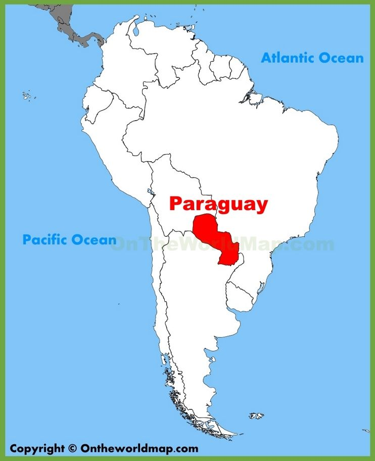Paraguay Location On The South America Map Maps Pinterest: South America Map Paraguay At Codeve.org