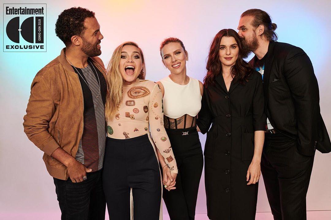 The 'Black Widow' cast Comic-Con portrait for @entertainmentweekly ...