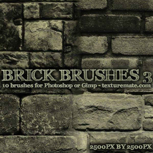 Brick 3 Brush Pack For Photoshop Or Gimp