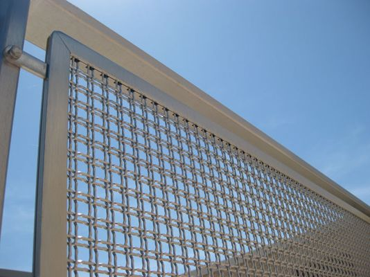 Banker Wire Mesh M MidFill Weave In Stainless Martis Fence - Architectural wire mesh