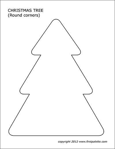 Christmas Tree Templates Free Printable Templates Coloring Pages Firstpalette Com Christmas Tree Template Templates Printable Free Christmas Tree Art