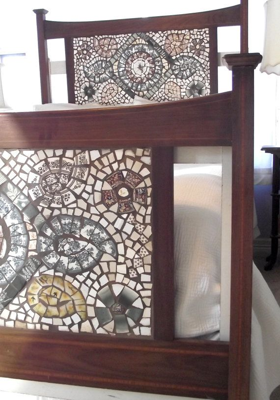 Mosaic Headboard And Footboard Full Size By Themosaicbutterfly