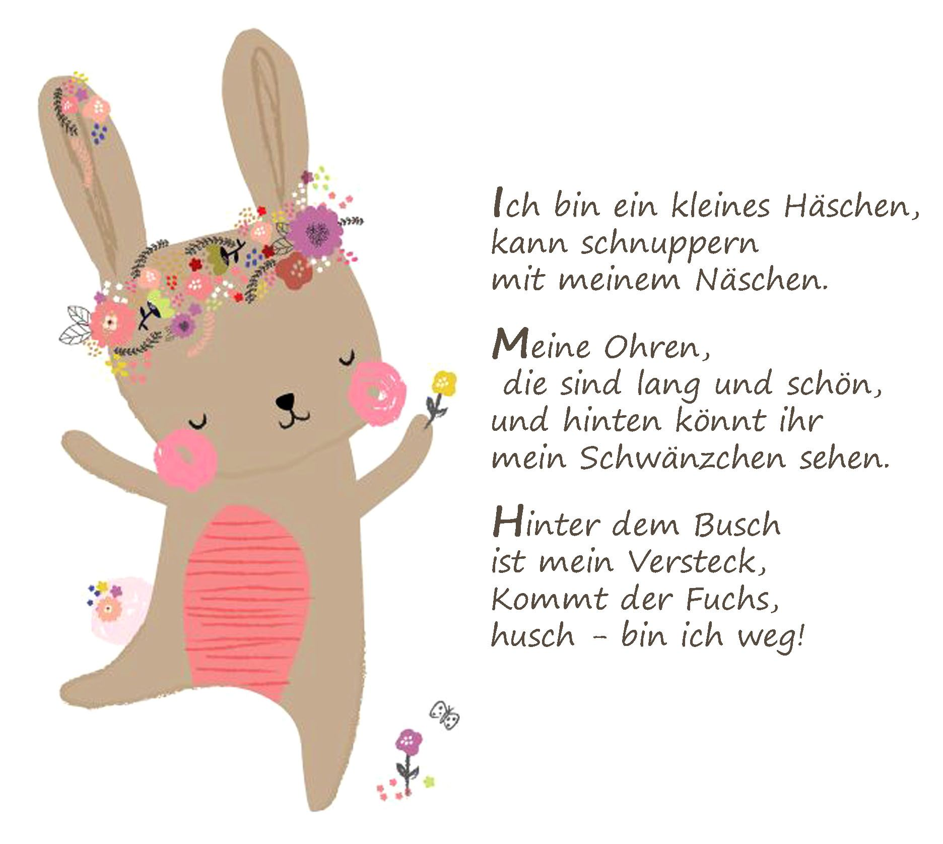 Osterhase Ostern Gedicht Kindergarten Erzieherin Kita Kinder