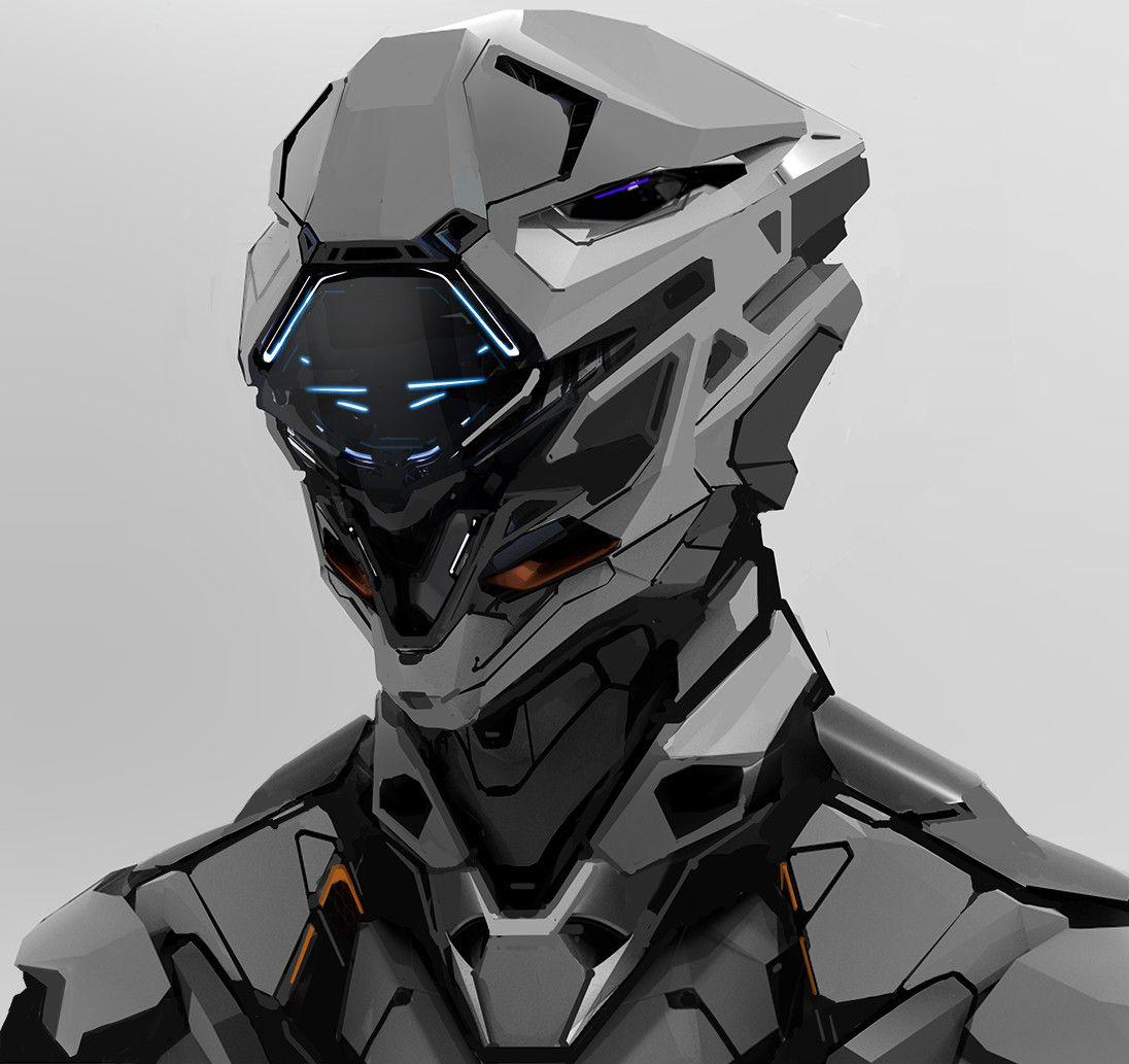 Artstation Robot Head 112417 Aaron De Leon Robots Concept Helmet Concept Armor Concept