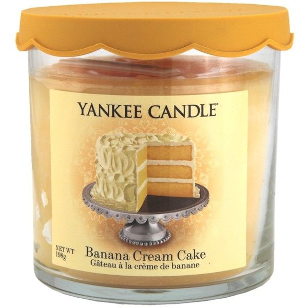 Yankee Candle Banana Cream Cake Tumbler ❤ liked on Polyvore