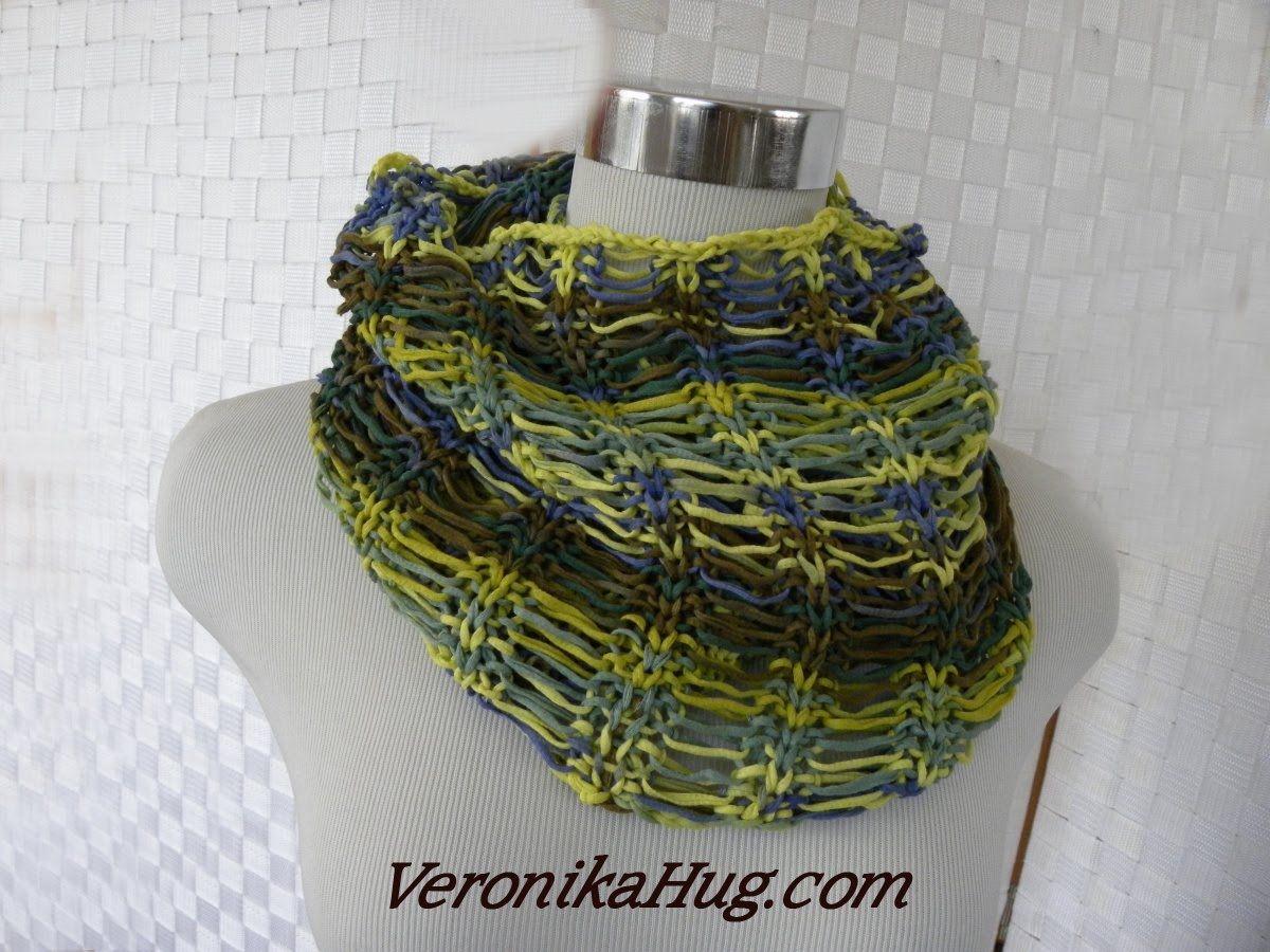 Stricken - Fallmaschen-Loop - Woolly Hugs BANDY - Veronika Hug | 3 ...