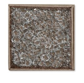 Market Collection Luxe Cracked Glass Tile In Marrone