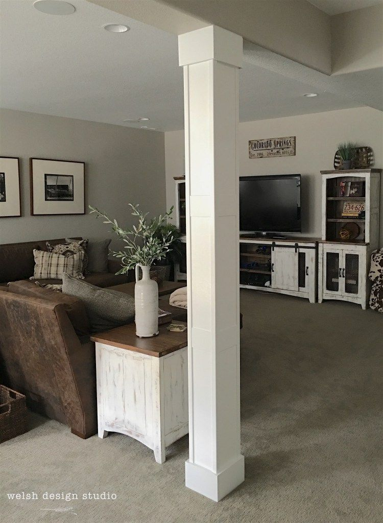 Wrapping Our Basement Column | Basement remodeling ...