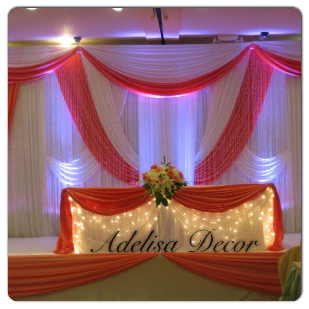 Coral Wedding Reception Ideas: Coral & White Wedding Reception Décor & Sweetheart Table