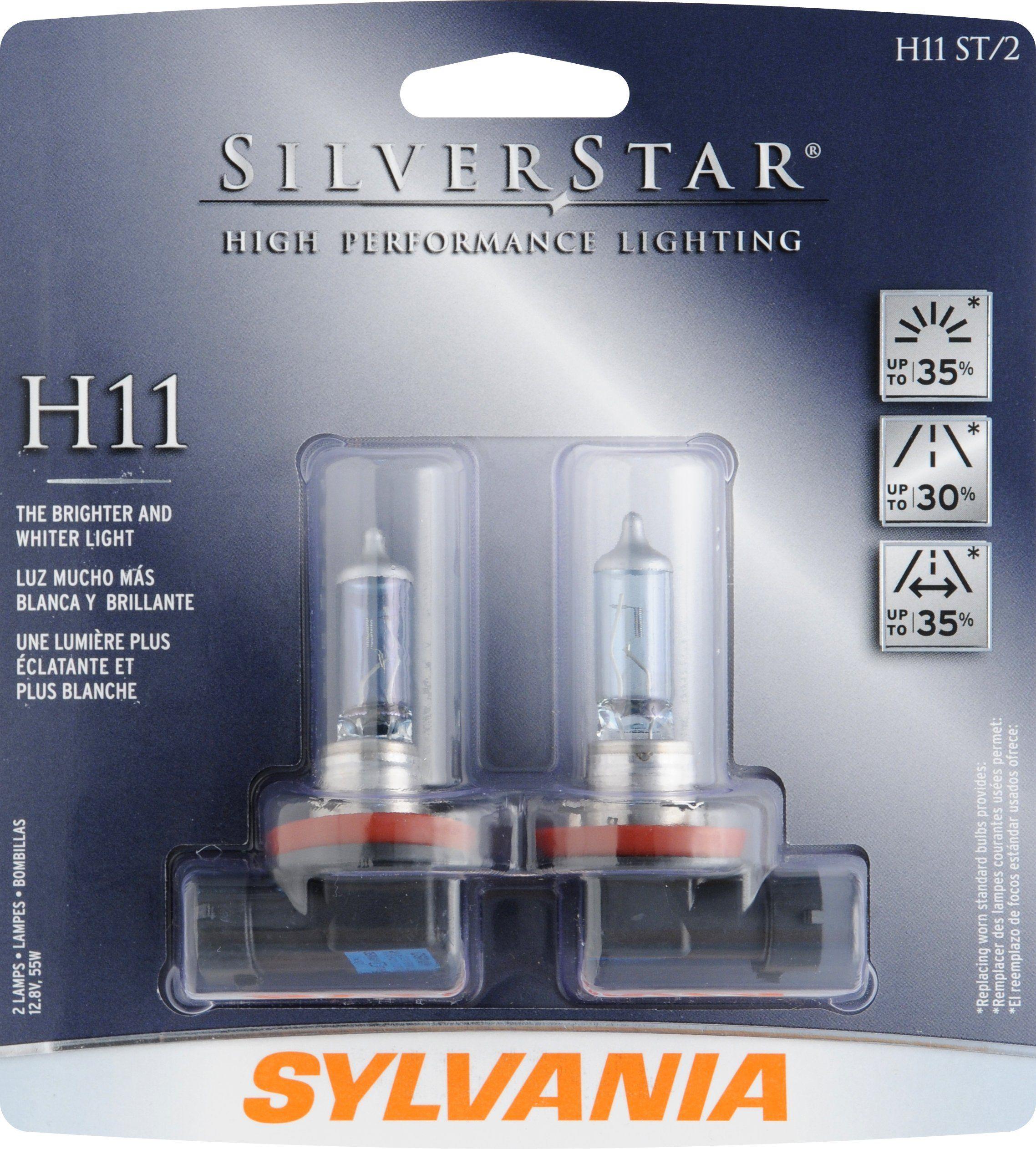 Sylvania H11 St Silverstar High Performance Halogen