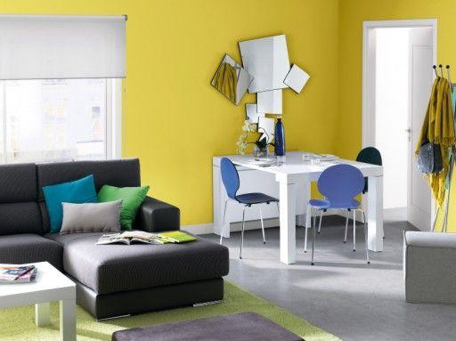 elegir el color para pintar tu casa el amarillo aporta vitalidad a tu sala mesa extensible kreta y sof bcn de kibuc muebles de salon pinterest