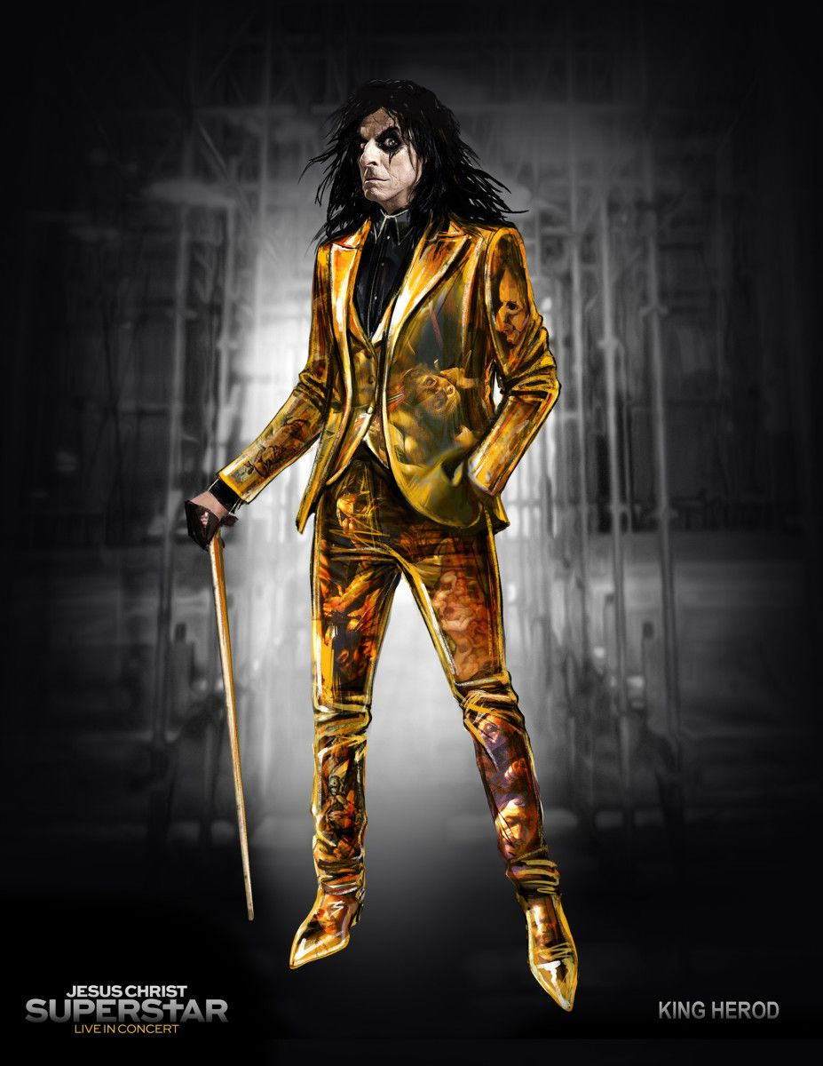 The Costumes In The John Legend Starring Jesus Christ Superstar Live Reference Rick Owens And Issey Miyake Alice Cooper Jesus Christ Superstar Heavy Metal Music