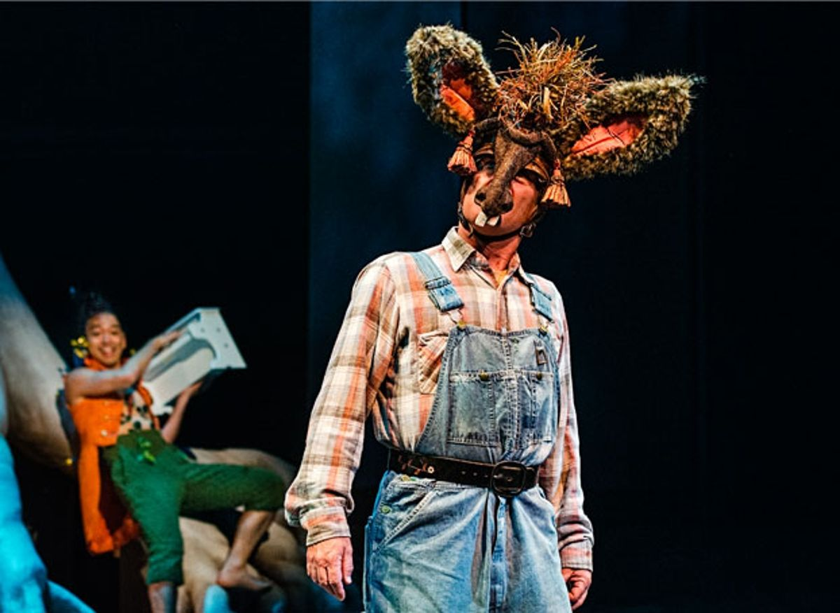 puck and bottom in a midsummer nights Puck, also known as robin goodfellow, is a character in william shakespeare's play a midsummer night's dream, based on the ancient figure of puck found in english mythology puck is a clever, mischievous fairy , sprite or jester that personifies the wise knave.