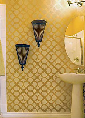 Cutting Edge Stencils - Hand Forged Allover Stencil | Bathroom ...