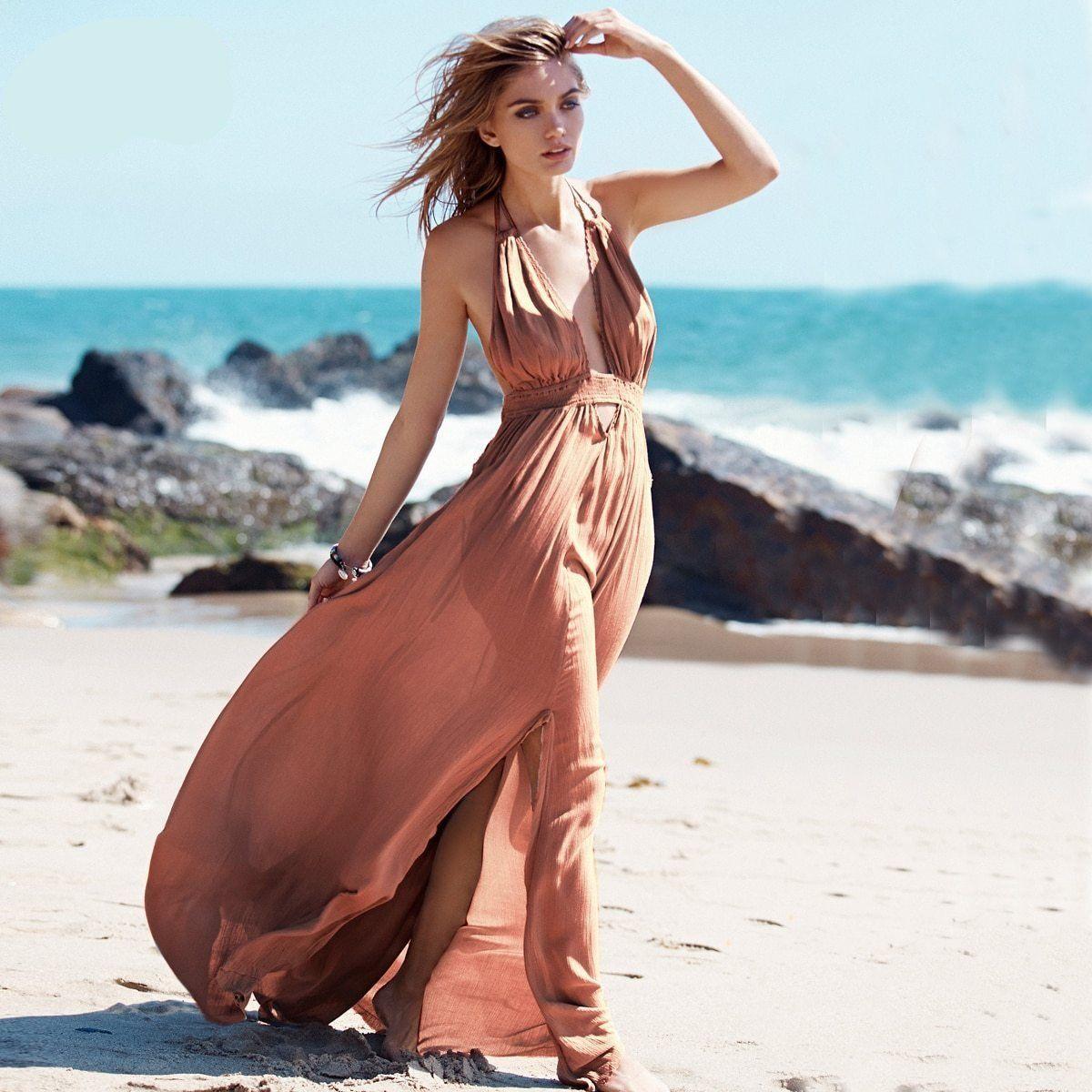 Maxi Dresses Backless Halter Beach Dress Maxi Dress Fashion Dresses [ 1200 x 1200 Pixel ]