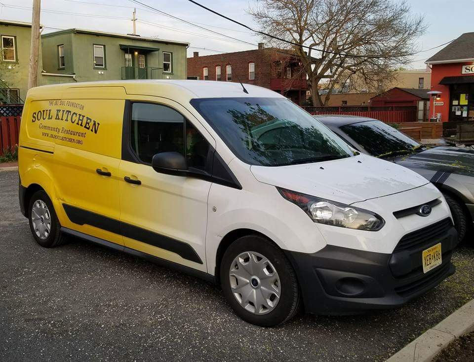 Jbj Soul Kitchen Community Restuarant Ford Transit Connect Mini Cargo Van Equipped With Hts Systems Patented Hts 20shm 1 Hand Truck Ford Transit Van Cargo Van