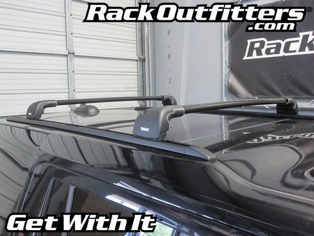 Land Rover Lr4 Thule Black Aeroblade Edge Roof Rack 10 16 Roof Rack Land Rover Roof Lines