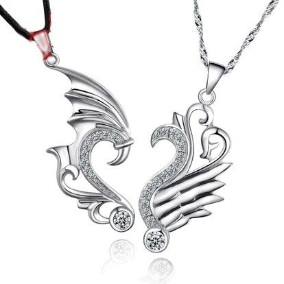 a91e70f8d1 2 Piece Dragon Necklaces for Best Friends Sterling Silver - Matching Couple  Necklaces - Couple Jewelry for 2 Personalized Couples Gifts | His Her  Necklaces ...