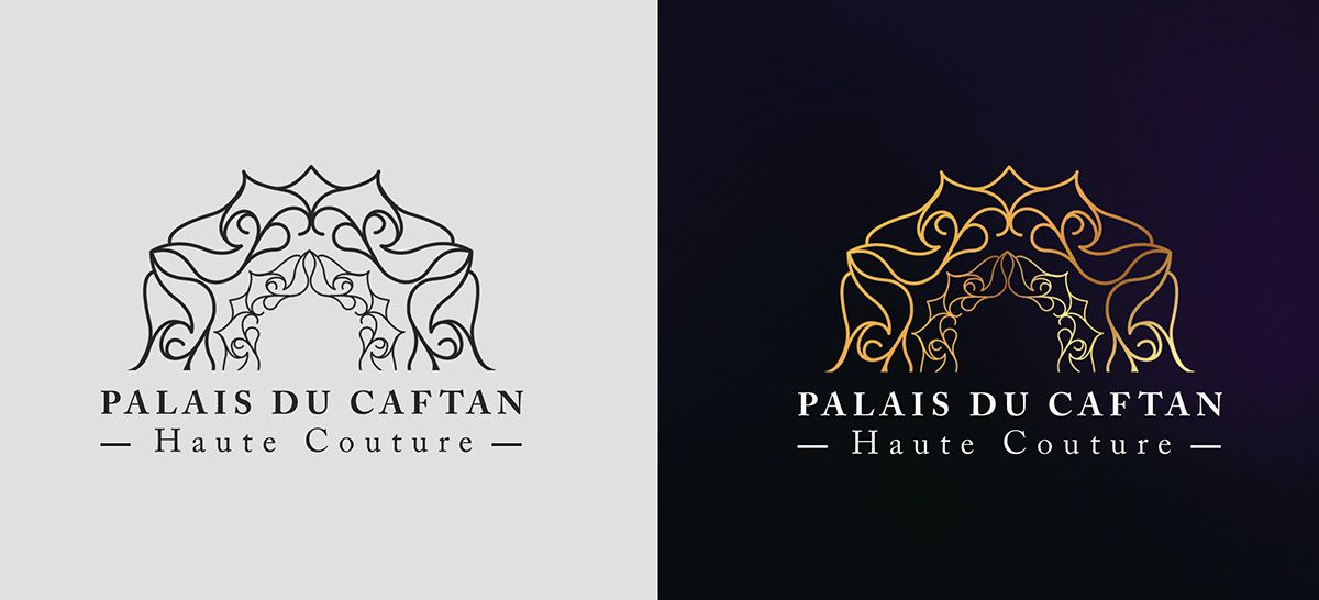 Logo Et Carte Visite De PALAIS DU CAFTAN On Behance
