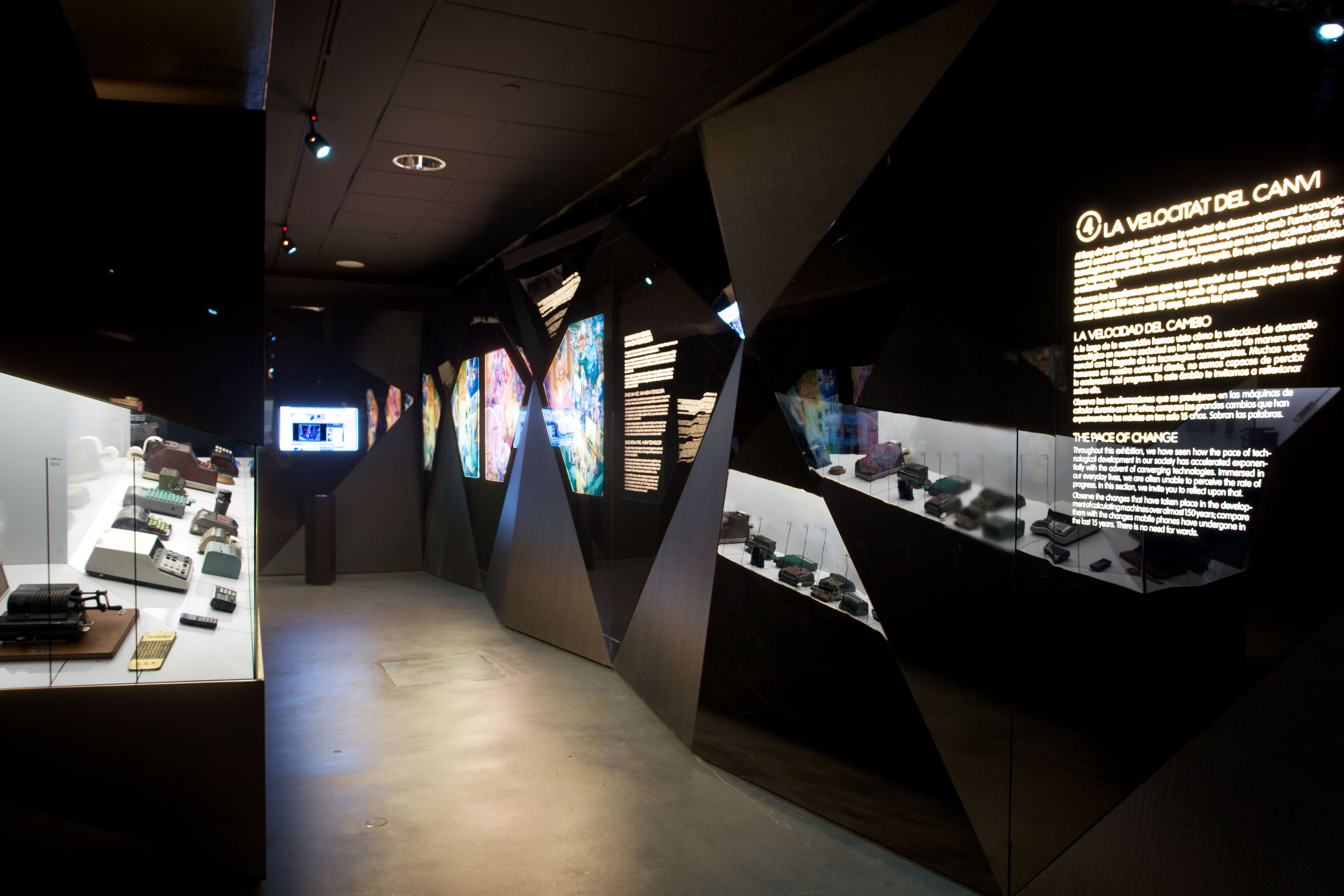 Exhibition Stand Layout : Techno revolution exhibition science museum barcelona by