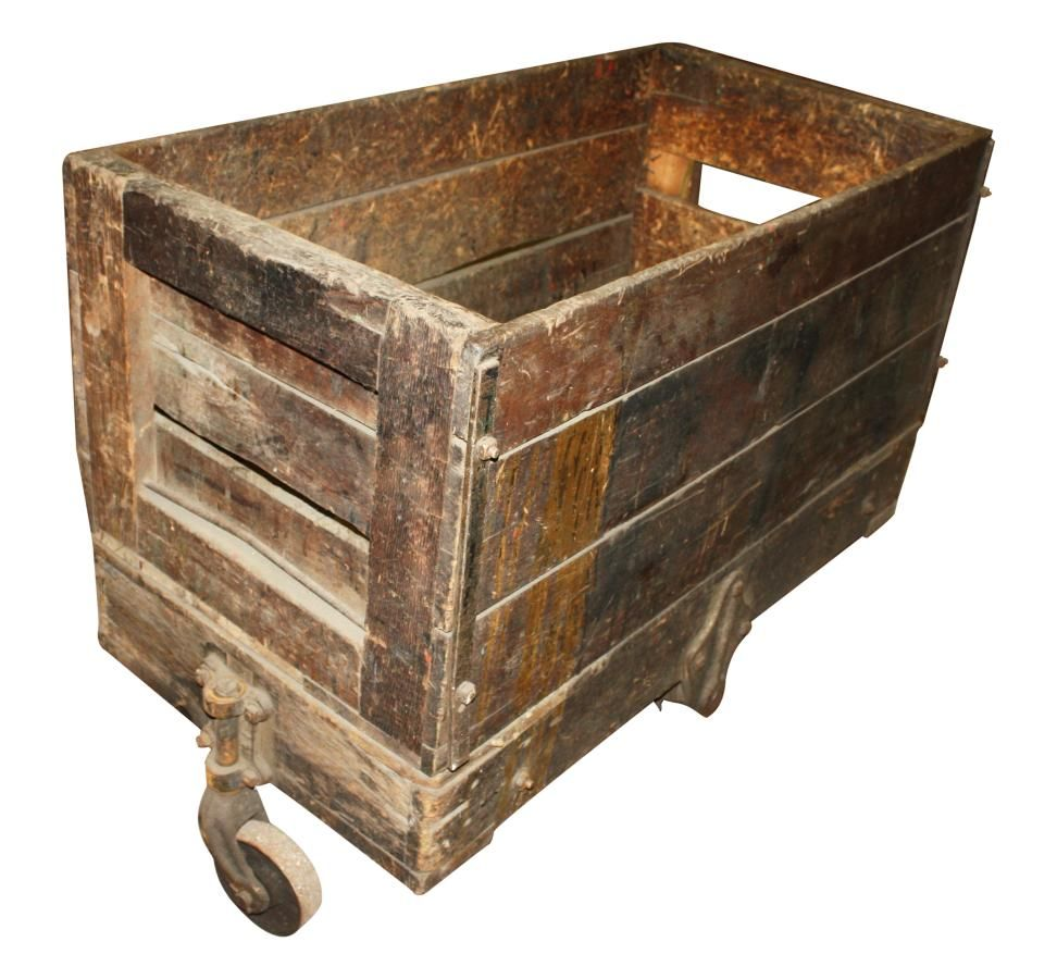 Terrific Antique Wooden Crate Cart Olde Good Things