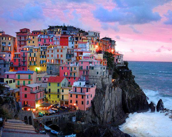 Cinque Terre Art Italy Photography Italian Village Vernazza
