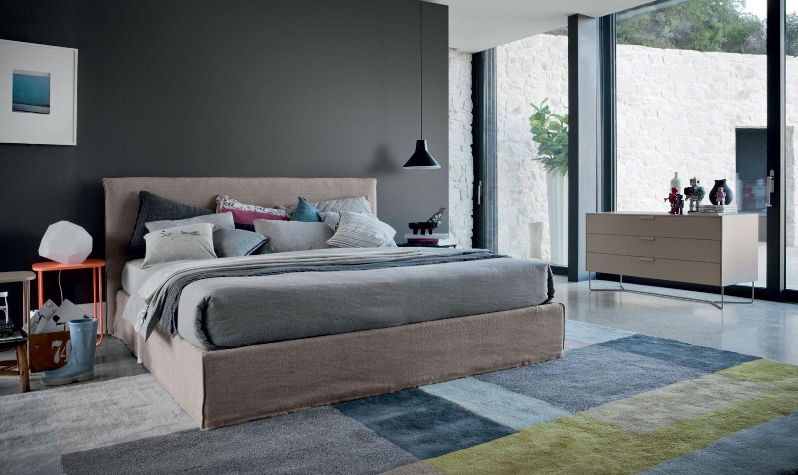 Slimline Bedroom Furniture Novamobili Twiggy Letto Tempo Notte Design Made In Italy