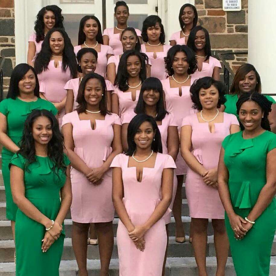 7405401bc1298 Beautiful young Sorors of Alpha Delta chapter, Alpha Kappa Alpha Sorority,  Incorporated, Morgan State University, Baltimore, MD (2016).