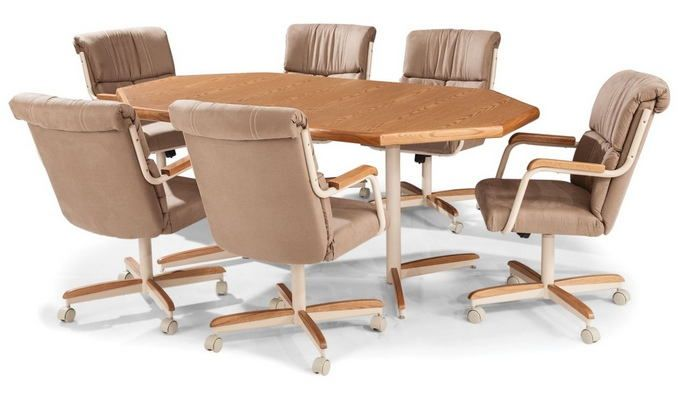 Pc Douglas Casual Living Dawn Collection Octagon Shaped Oak Finish - Octagon shaped dining table