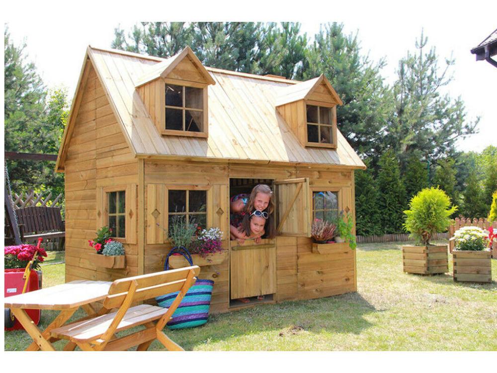 Details zu Kinderspielhaus Spielhaus Barcelona Holz Kinder
