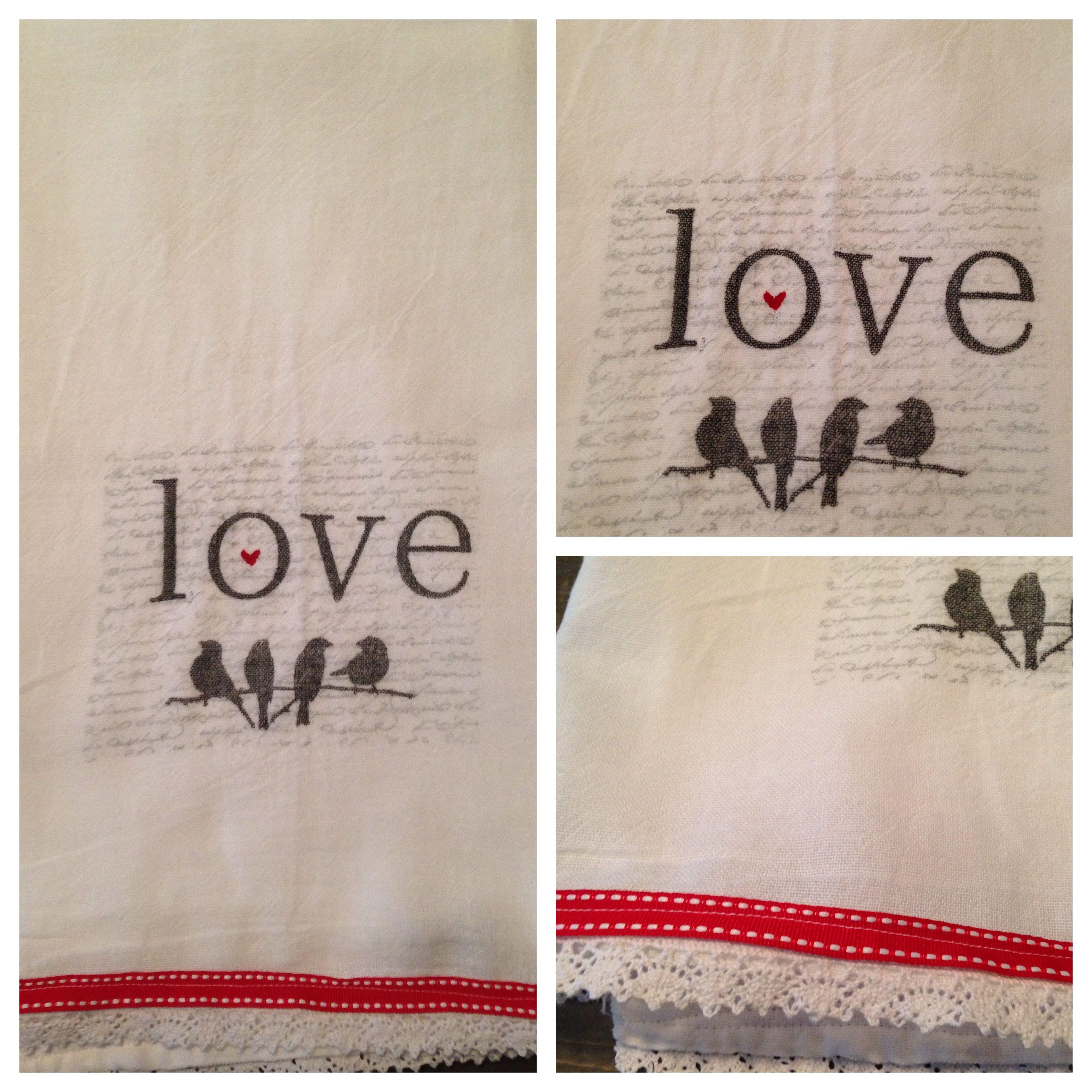 Diy Tea Towel Stamp With Permanent Ink Plain White Flour Sack