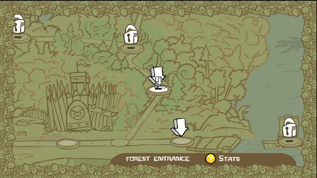 430551 Castle Crashers Xbox 360 Screenshot Select Your Next Stage Jpg 1280 720 Castle Crashers Game Design Pixel Art