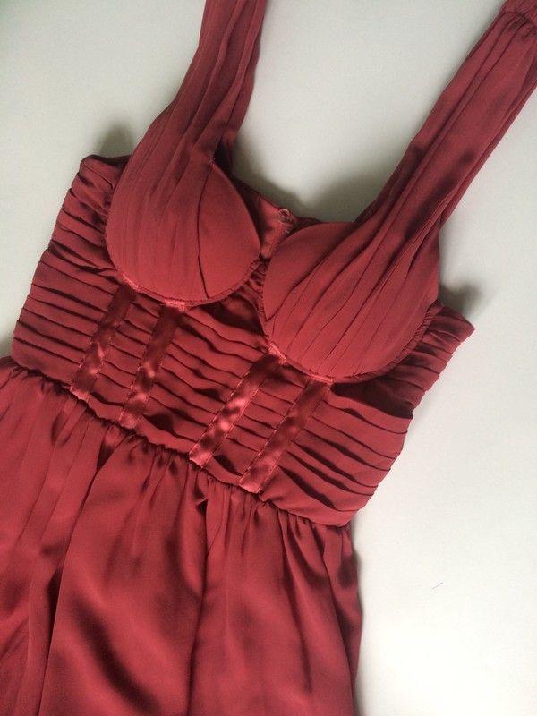 74118932 Malinowa sukienka H&M 36, limitowana edycja By Night for H&M ...