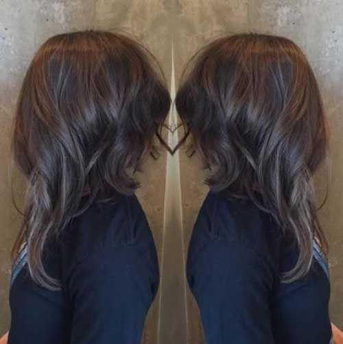 20 Medium Long Hair Cuts Pinteres