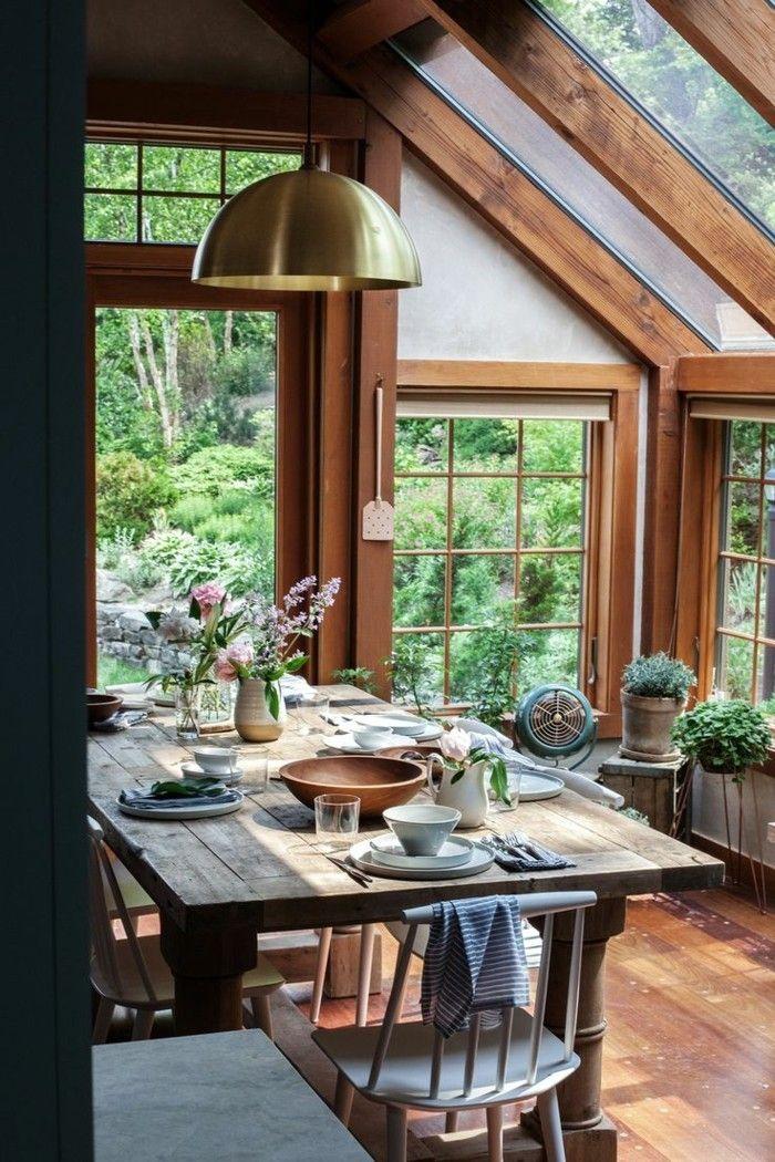 esszimmer landhausstil moderner look und schöne aussicht - esszimmer landhausstil