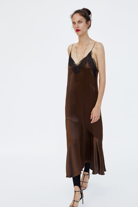 e69fa97cf40d1 Image 4 of LINGERIE-STYLE DRESS from Zara