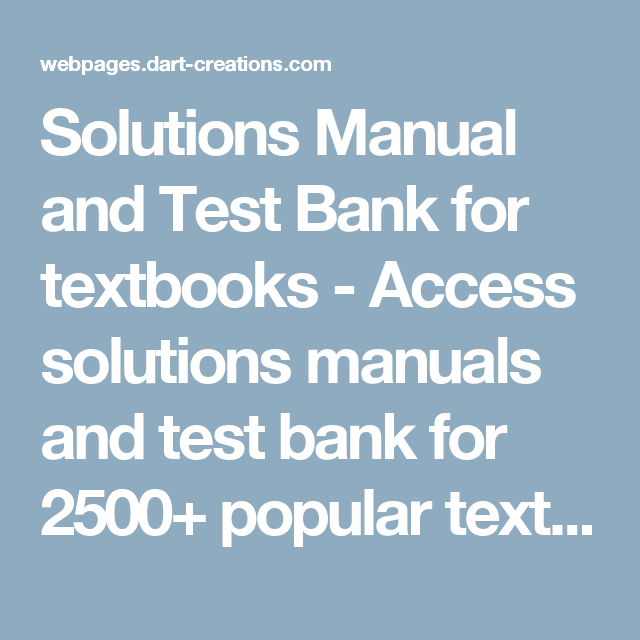 Solutions manual and test bank for textbooks access solutions access solutions manuals and test bank for popular textbooks cheapeast in format pdf txt doc fandeluxe Choice Image