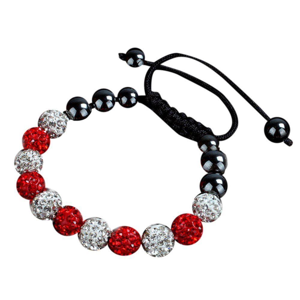 Braceletpikolai mm beautiful crystal ball bead friendship