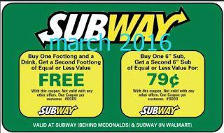 Printable Coupons: Subway Coupons