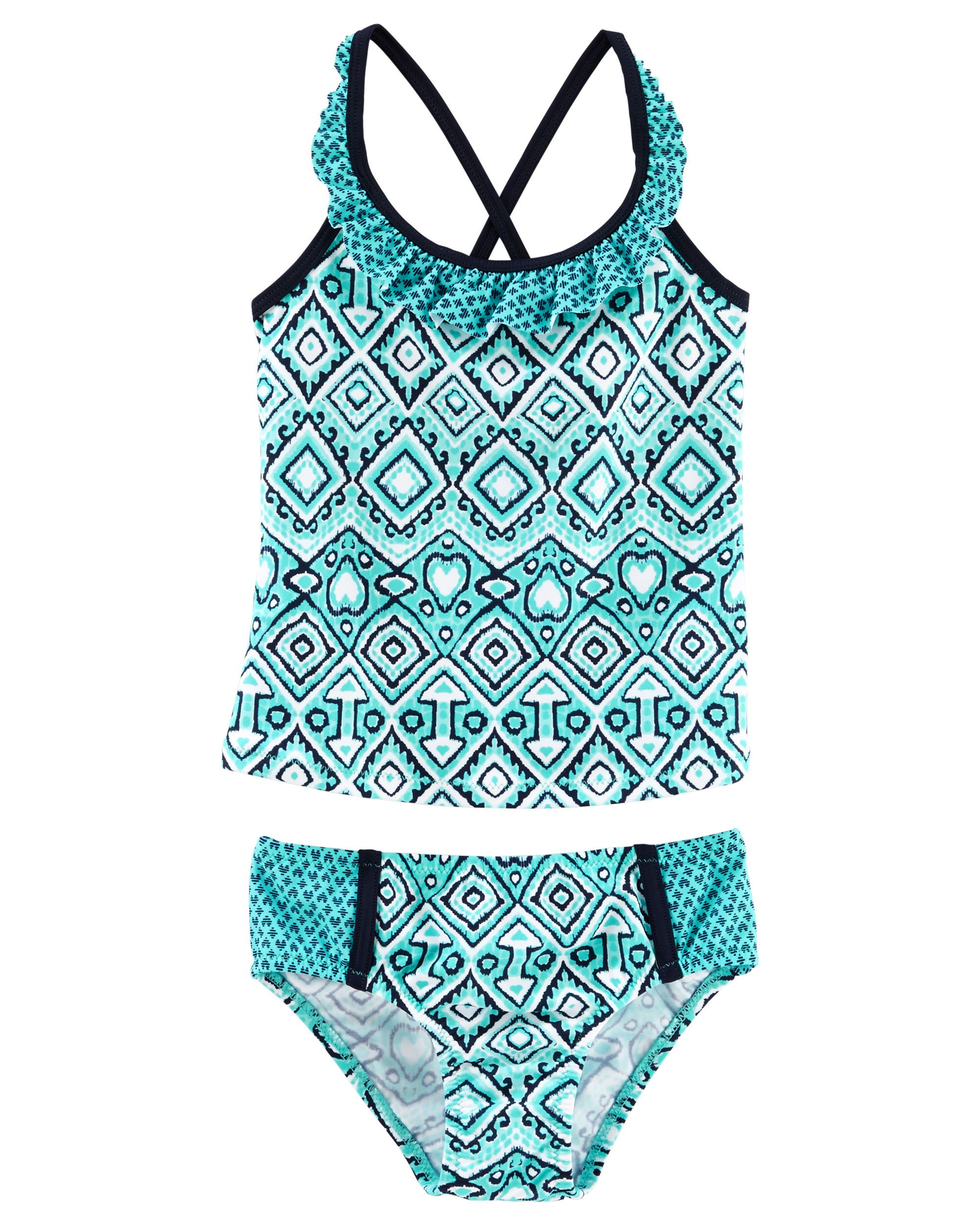 5f64ebbf11995 Baby Girl OshKosh Medallion Print Tankini | OshKosh.com Kids Swimwear, Baby  Girl Swimwear