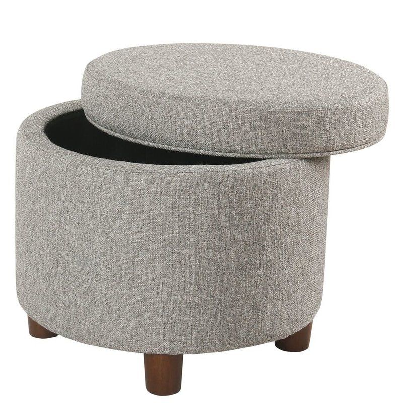 Super Yarmouth Round Storage Ottoman In 2019 Groovy Bronx Pad Gmtry Best Dining Table And Chair Ideas Images Gmtryco