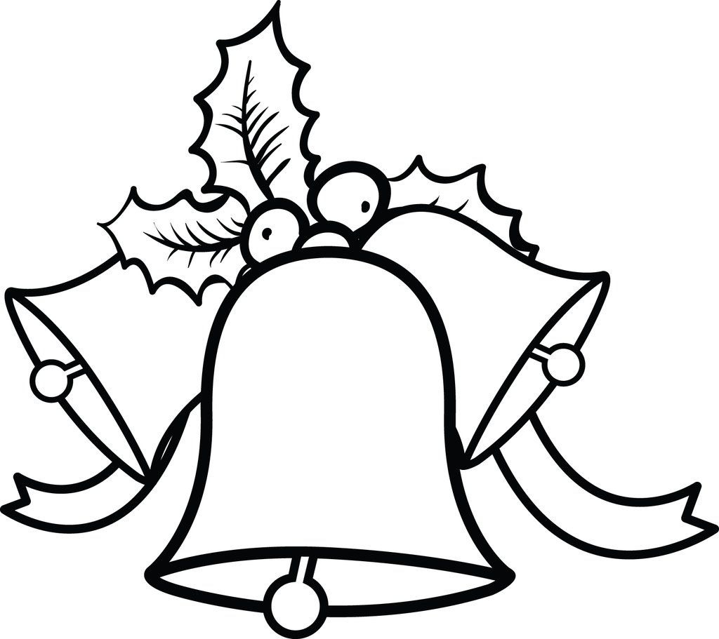 Printable Christmas Bells Coloring Page For Kids
